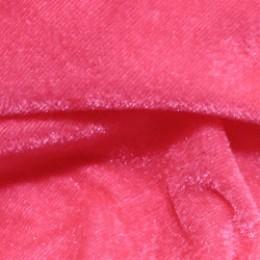Ткань велюр стрейчевый розовый неон (метр )