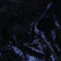 Ткань бархат стрейч мрамор темно-синий (метр )
