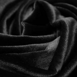 Ткань бархат стрейч черный (метр )