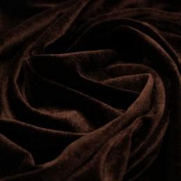 Ткань бархат стрейч шоколад (метр )