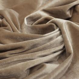 Ткань бархат стрейч бежевый (метр )