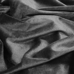 Ткань бархат стрейч серый (метр )