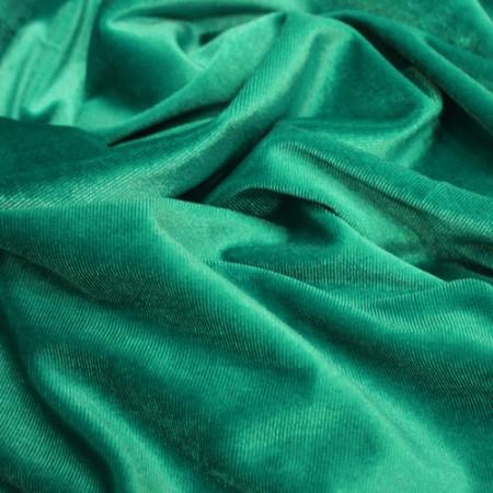 Ткань бархат стрейч бирюзовый (метр )