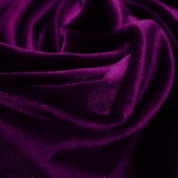 Ткань бархат стрейч фиолетовый (метр )
