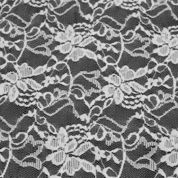 Ткань гипюр стрейчевый белый (метр )
