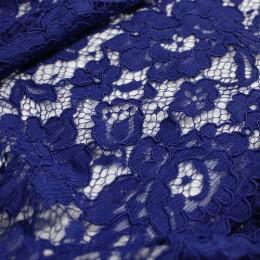 Ткань гипюр макраме электро-синий (метр )
