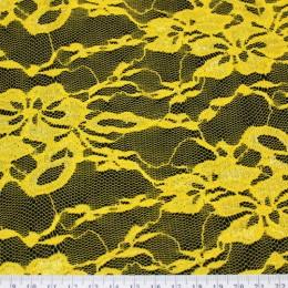 Ткань гипюр стрейчевый желтый (метр )