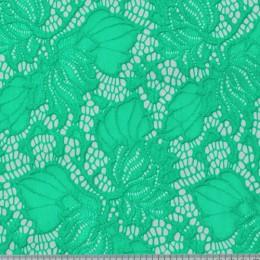 Ткань гипюр стрейчевый бирюзовый (метр )