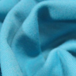 Ткань футер двунитка голубая бирюза (метр )