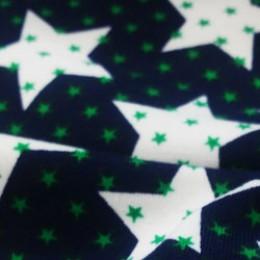 Ткань футер двунитка принт звезды (метр )