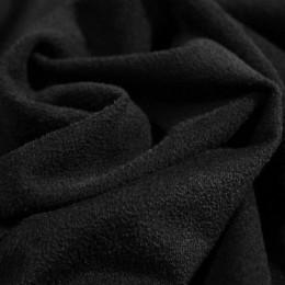 Ткань трикотаж замша черный (метр )