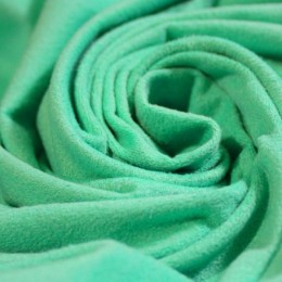 Ткань трикотаж замша мятный (метр )