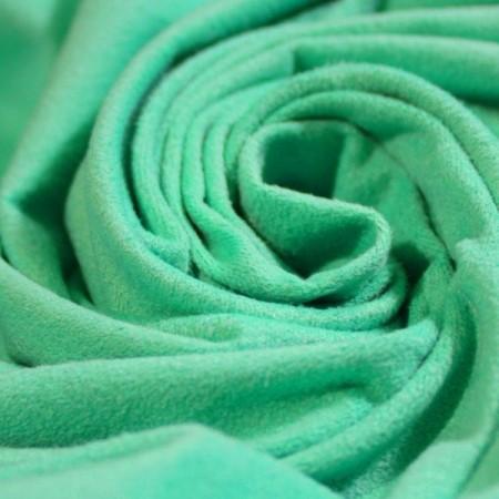 Ткань замша стрейч мятный (метр )