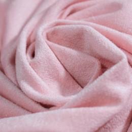 Ткань трикотаж замша розовый (метр )