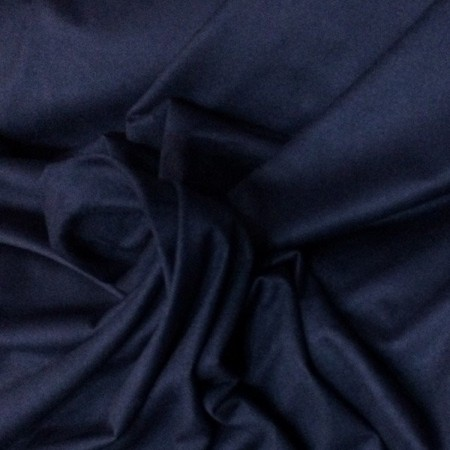 Ткань трикотаж замша темно-синий (метр )