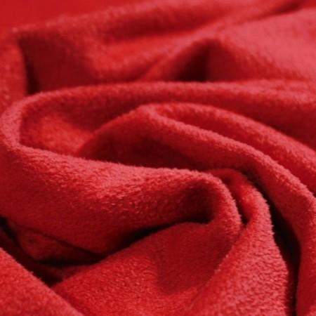 Ткань трикотаж замша красный (метр )