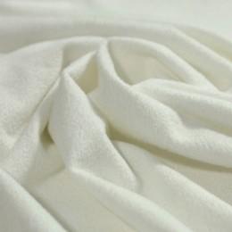 Ткань трикотаж замша молочный (метр )