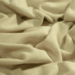 Ткань трикотаж замша бежевый (метр )