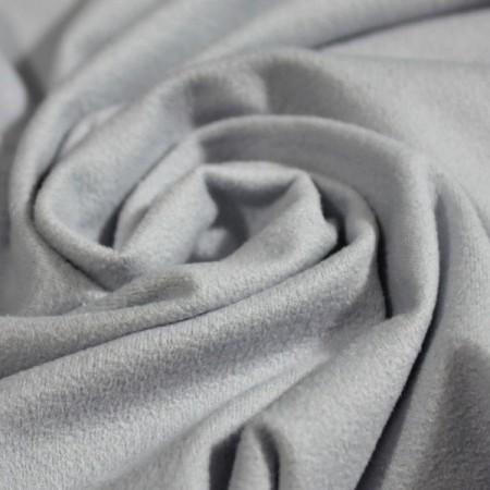 Ткань трикотаж замша светло-серый (метр )