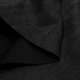Ткань замша искусственная черная (метр )
