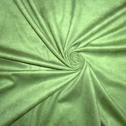 Ткань замша искусственная светло-зеленая (метр )