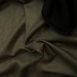 Ткань замша искусственная хаки (метр )