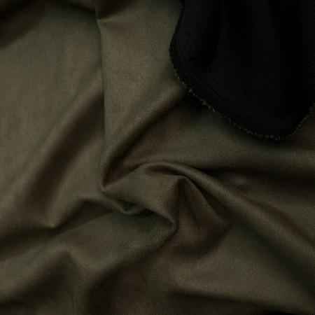 Ткань замша на дайвинге хаки (метр )