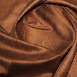 Ткань замша искусственная медно-коричневая (метр )