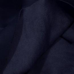 Ткань замша искусственная темно-синяя (метр )