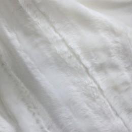 Мех искусственный норка молочная жаккард (метр )