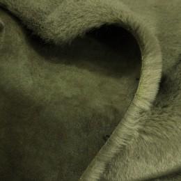 Мех дубляж мутон коричневый (мутон+замша) (метр )