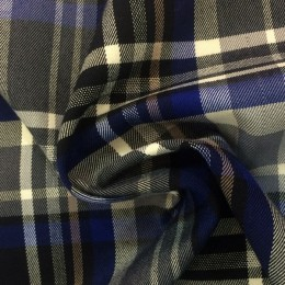 Ткань креп костюмка Барби темно-синяя (метр )