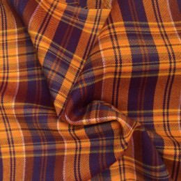 Ткань креп костюмка Барби желтая (метр )