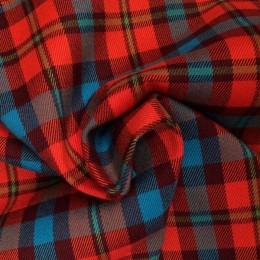 Ткань креп костюмка Барби красная (метр )