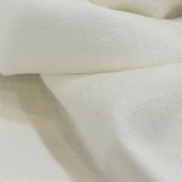 Ткань лен стрейчевый молочный (метр )