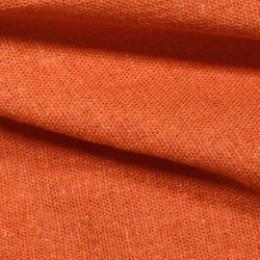 Ткань лен стрейчевый оранжевый (метр )