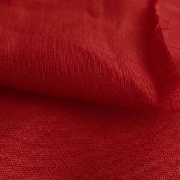 Ткань лен белорусский рубашечный красный (метр )