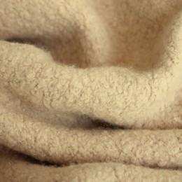 Ткань пальтовая букле светло-бежевая (Турция)  (метр )