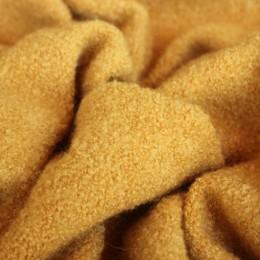 Ткань пальтовая букле желтая (Турция)  (метр )