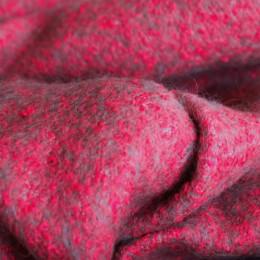 Ткань пальтовая букле малиновая (Турция)  (метр )