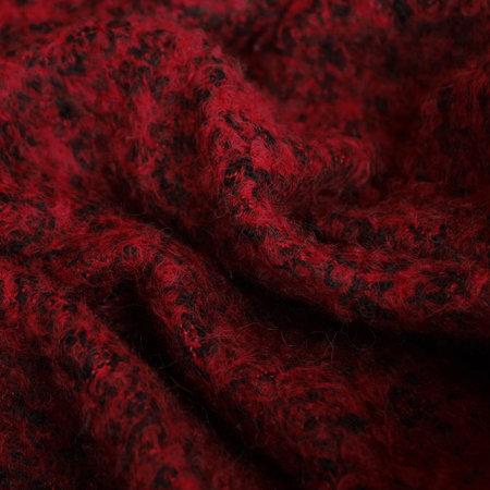 Ткань пальтовая букле темно-красная(Турция)  (метр )