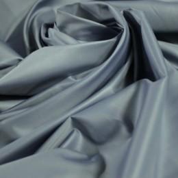 Ткань плащевка лаке серо-голубая (метр )