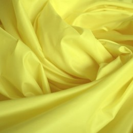 Ткань плащевка лаке желтая (метр )