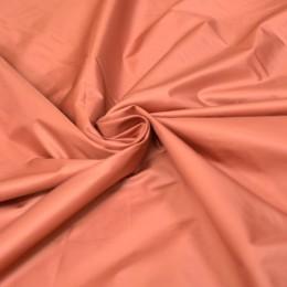 Ткань плащевка лаке пастельно-оранжевая (метр )