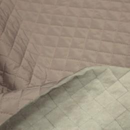 Ткань плащевка стеганная на синтепоне капучино (ромб 2.5см) (метр )