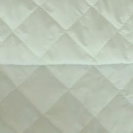 Ткань плащевка стеганная на синтепоне молочная (метр )