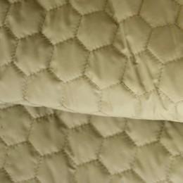 Ткань плащевка стеганная на синтепоне бежевая 1 (метр )
