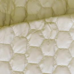 Ткань плащевка стеганная на синтепоне светло-бежевая (метр )