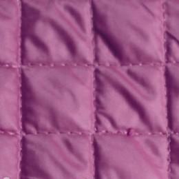 Ткань плащевка стеганная на синтепоне сиреневая (ромб 2.5см) (метр )