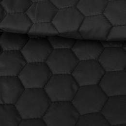 Ткань плащевка стеганная на синтепоне черная (метр )